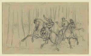 The death of Gen. John Reynolds was captured by Alfred Waud. Reynolds died early on the first day of the battle, but his actions set up three days of fierce action between the two armies.