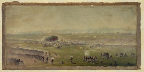 Edwin Forbes' painting of Pickett's charge