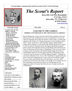 Scout's Report, May 2016
