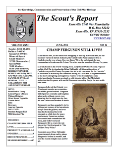 Scout's Report, June 2016