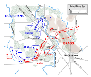 Map of the Battle of Stones River